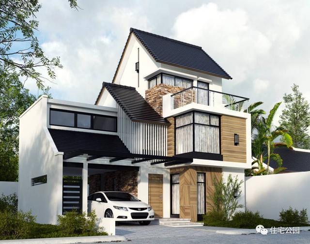 谁说建房欧式最实用,中式最漂亮?农村建现代别墅才是真豪宅!