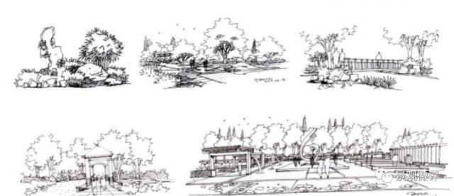 居住区景观快题设计案例 公共绿地:满足规定的日照要求,适合于安排