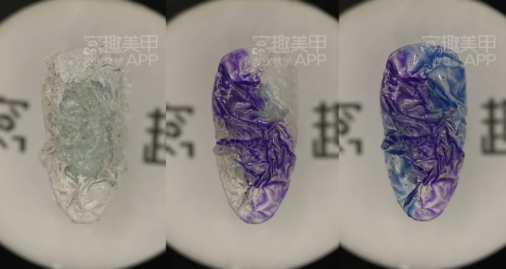 【窝趣美甲视频教程】尸体立体步骤褶皱款效果解剖具体贝壳图片