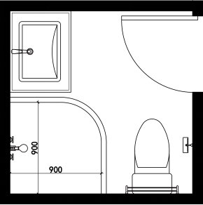 cad浴缸平面图尺寸
