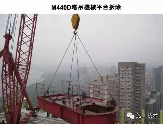 施工技术 |超高层巨型塔吊卸载全过程(内附多图),涨姿势!
