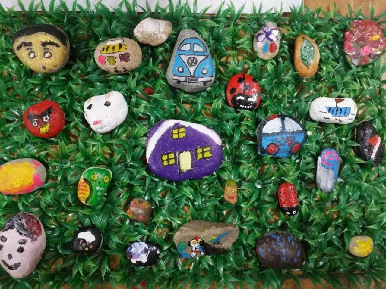 石头记 幼儿园石头画创意欣赏