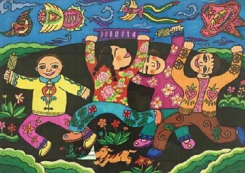 """十九届""""百灵""""艺术节优秀美术作品展示(小学绘画)图片"""