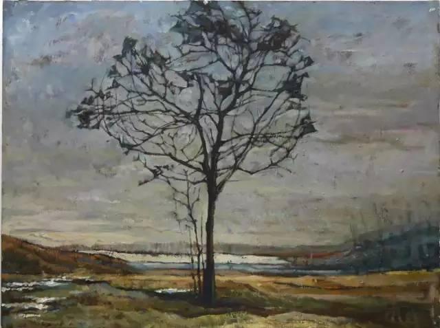 《乡愁》 油画风景 60*80cm