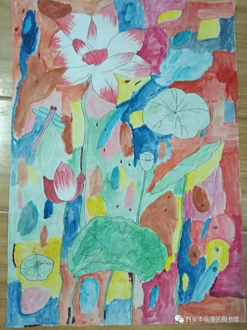 """西安市临潼区图书馆关于快乐小蜜蜂暑期""""画经典,诵经典""""少儿绘画诵读图片"""
