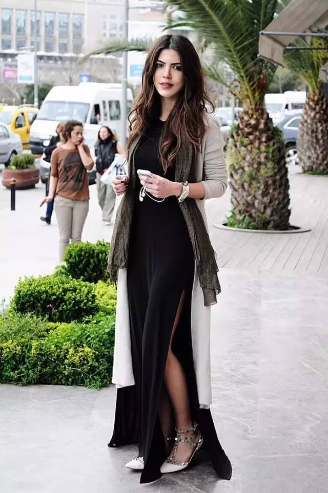 时尚 一件美丽的针织外套