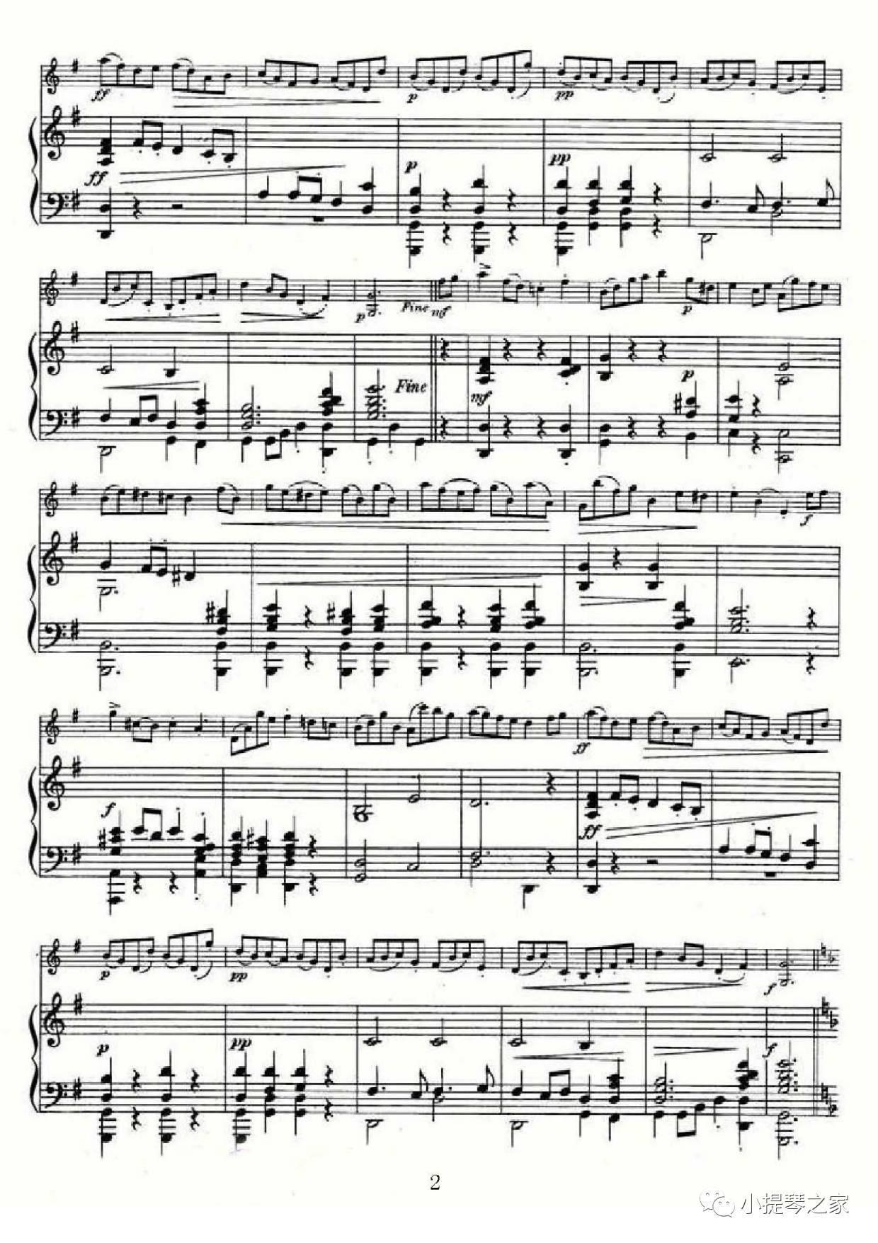 轻松愉快:《布列舞曲》附小提琴谱-巴赫曲