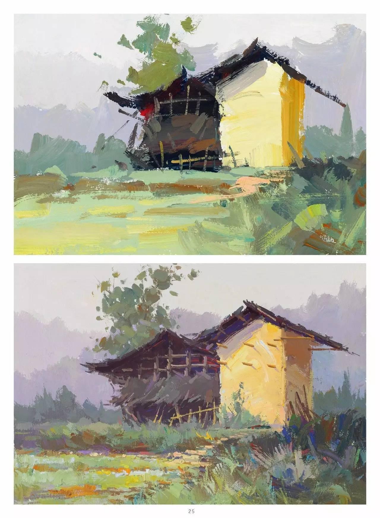 色彩风景画_——刘大锦 《对画——色彩风景》
