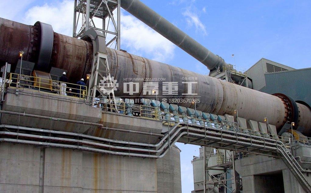 氧化锌回转窑生产线工艺流程图片