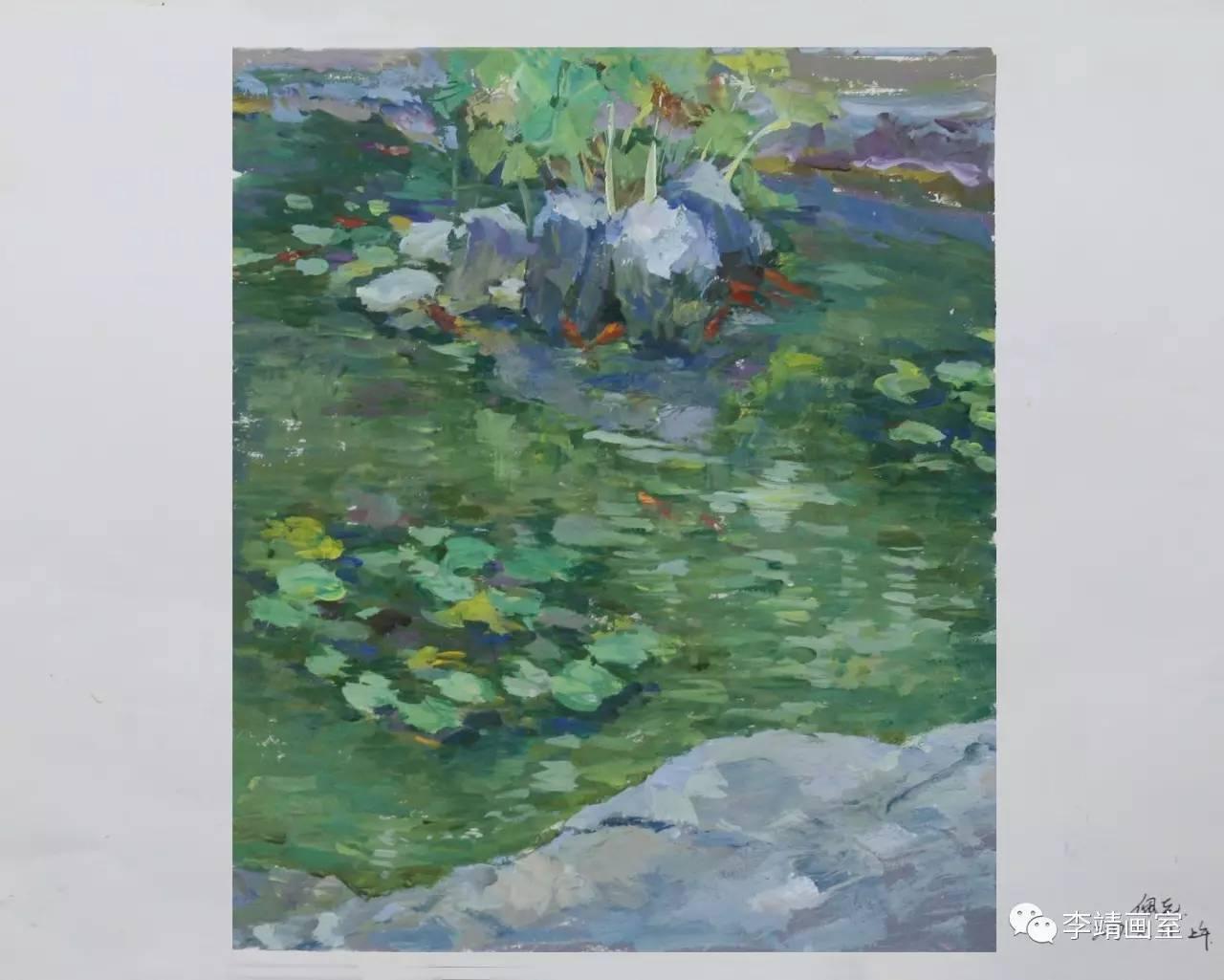 写给青春的诗 李靖画室色彩风景写生记