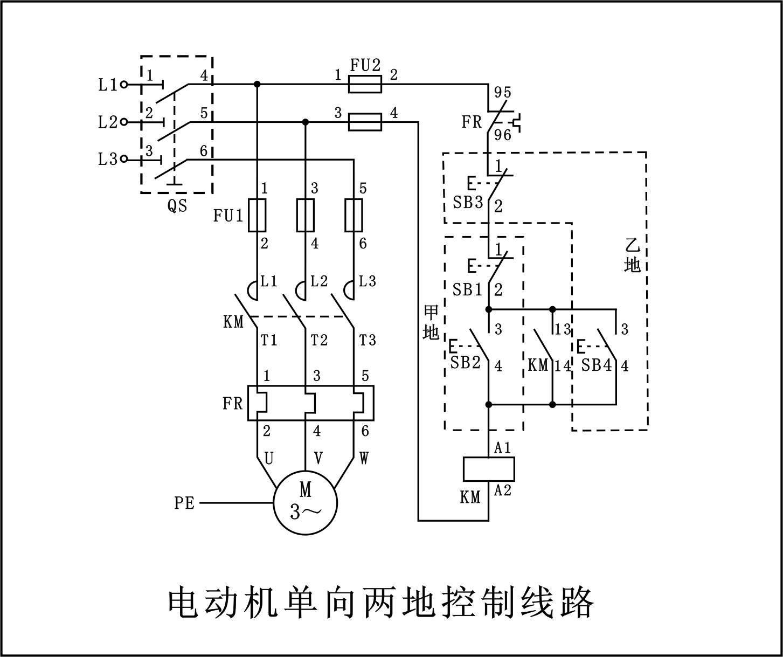 电机单向接线图