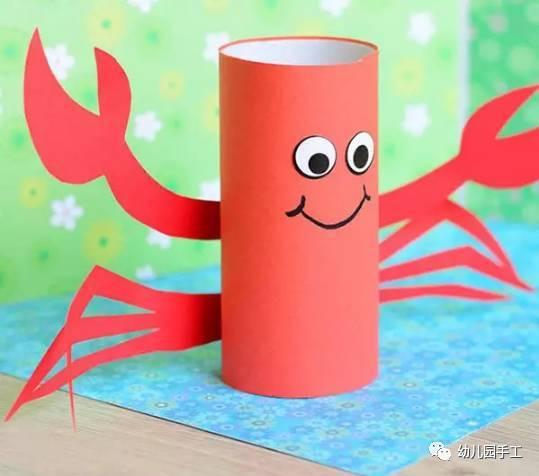 六款幼儿园创意手工制作螃蟹,美美哒!图片