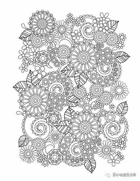 黑白装饰素材 密集 动植物图案
