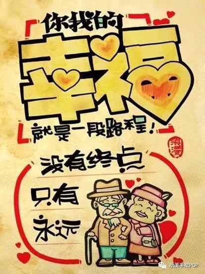 """""""幸福""""手绘pop海报"""