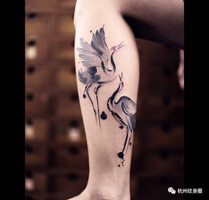 tattoo | 纹身素材:鹤图片