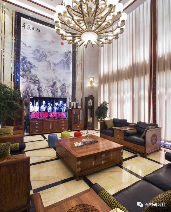 中式欧式两套别墅大理石装饰案例