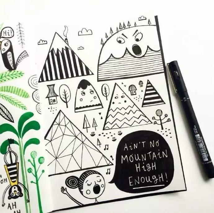 简笔画手账素材 | 一大波简单可爱的涂鸦简笔画