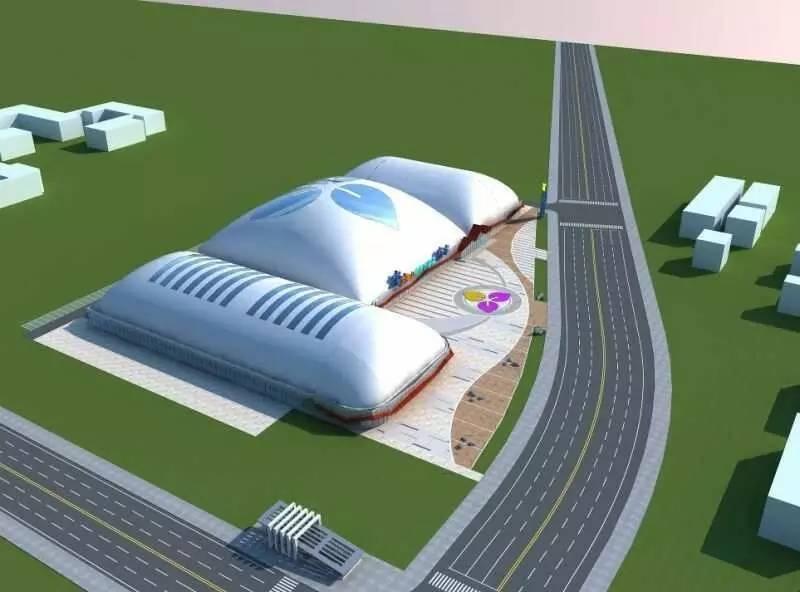 不仅能滑冰 提供多种运动娱乐项目  总体占地面积2.87万平方米,覆盖面积1.4万平方米。以三个气承式气膜结构滑冰馆为主体,规划两块1800平米国际标准真冰场,提供室内冰场、室内嬉雪场、体能康复、虚拟运动VR体验、蹦床公园、击剑、室内篮球馆、室内羽毛球馆、健身房等多种运动及娱乐项目。 形似白蘑菇 内含科技心 远远看上去,市民冰雪运动中心形似一朵巨大的白蘑菇,成为京西夏日里亮丽的一道风景,而这都要得益于它科技含量十足的气膜式结构。  市民冰雪运动中心由清华大学启迪冰雪集团自主开发,具备4大技术特点
