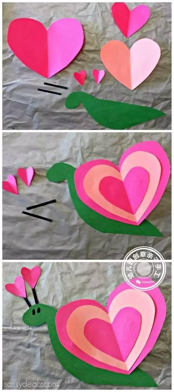 幼儿园爱心卡纸粘贴画 15个萌萌哒动物的拼贴教程,超适合小班