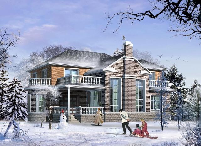 易盖房图纸:东北小伙为爸妈盖农村别墅,保暖省钱造价不到40万