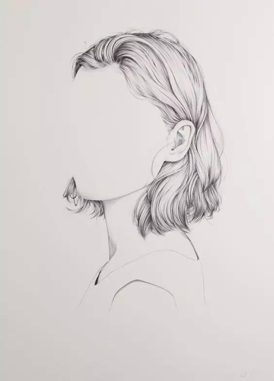 正文  对于画好头发,要搞清楚三部分: 1,头发的结构与画法 2,线描的表图片