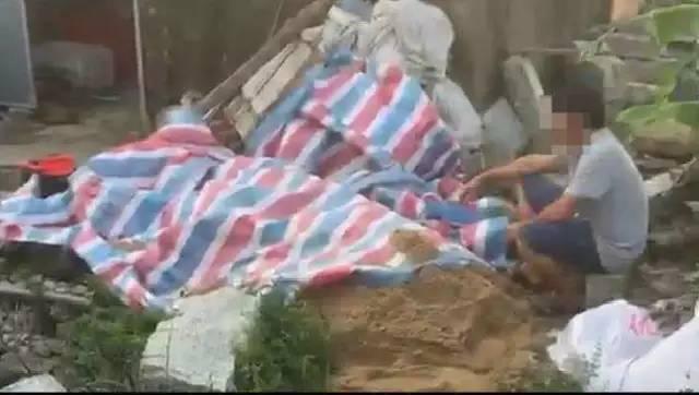 揭阳一60岁老人意外触电倒地,村民为救人用沙子掩埋…
