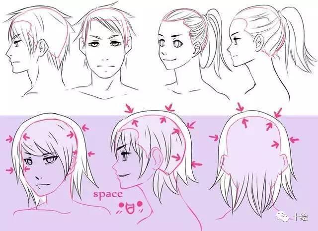头发的画法与参考,近百种!再画不好头发,那就是你的问题啦!转需!