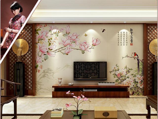 「连载」瓷砖电视背景墙装修效果图大全 简约中式风格