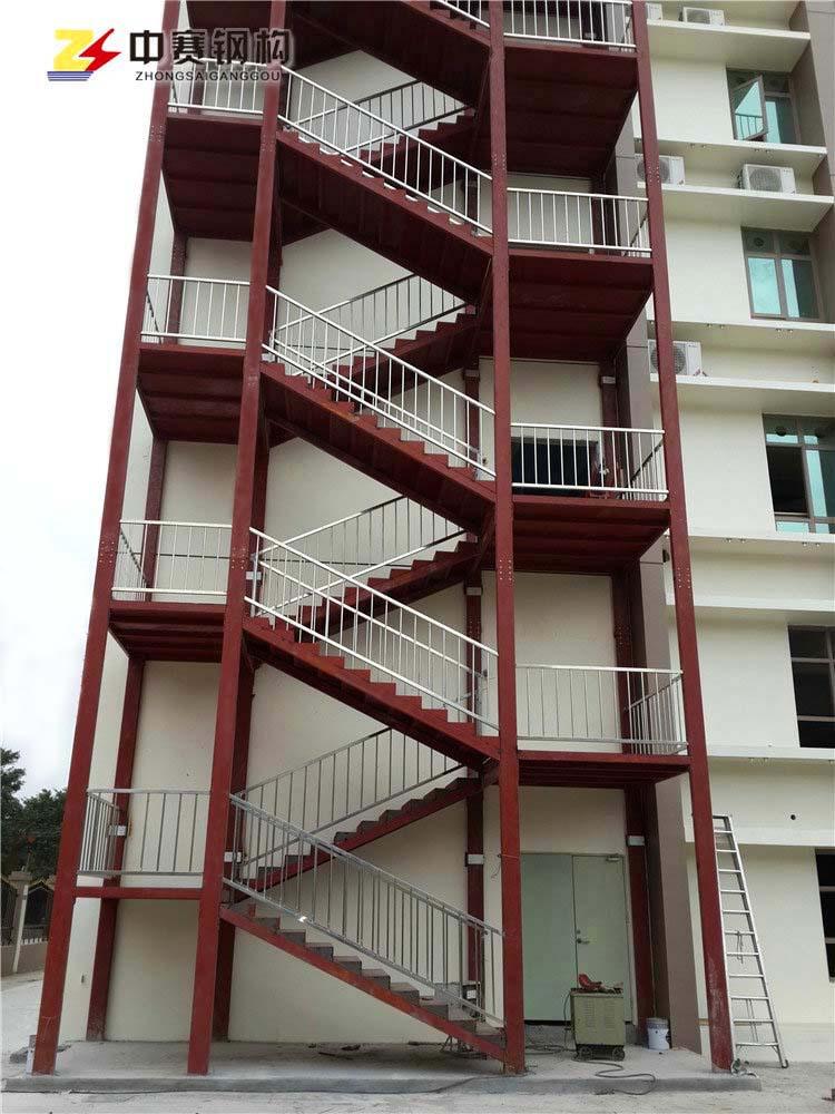 钢结构消防楼梯的安装报价