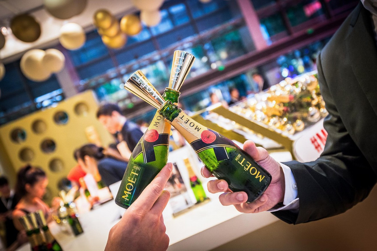 小身材,大魅力  酩悦迷你香槟快闪店登陆上海新天地