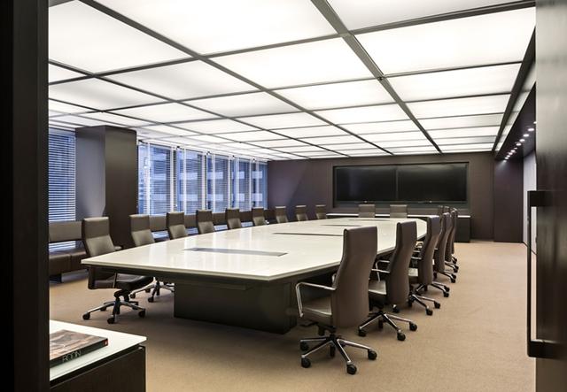 稳重凝练型办公室装修效果图