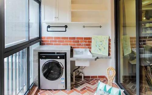 阳台洗衣机柜的风格和注意事项图片