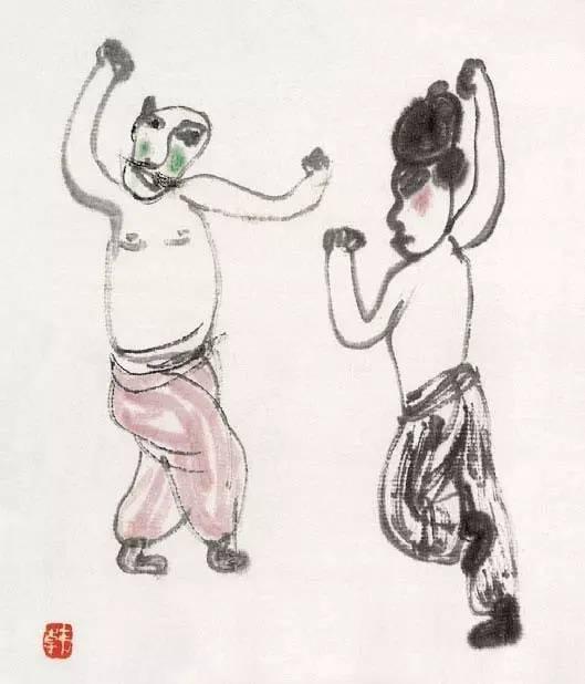画坛布衣 韩羽的戏曲人物,您喜欢吗
