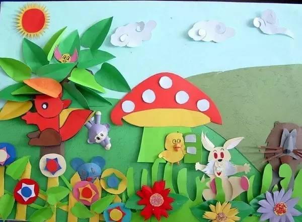 【手工】100张幼儿园创意墙面手工粘贴画,让教室美如画!图片