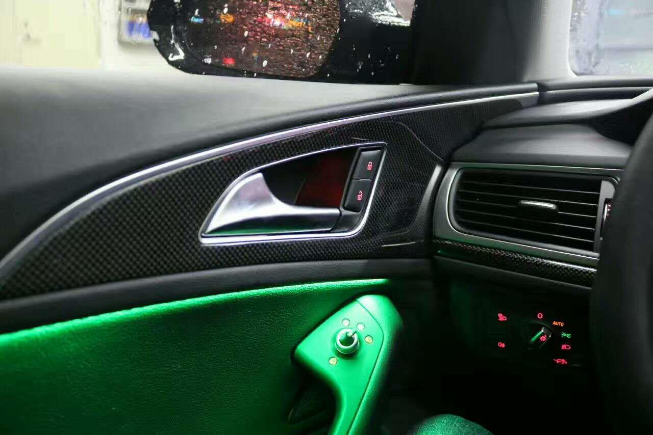 昆明奥迪a6加装八色氛围灯,带呼吸效果