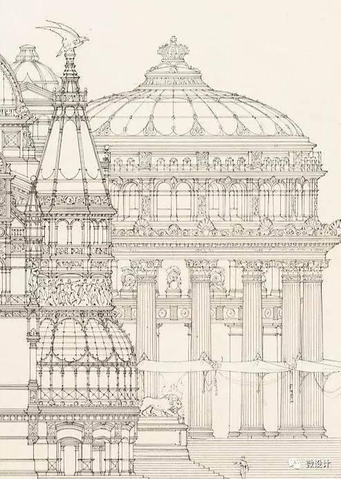 建筑前辈的大神级手绘图
