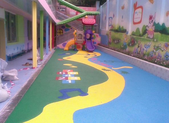 幼儿园EPDM塑胶地面做什么图案好看?