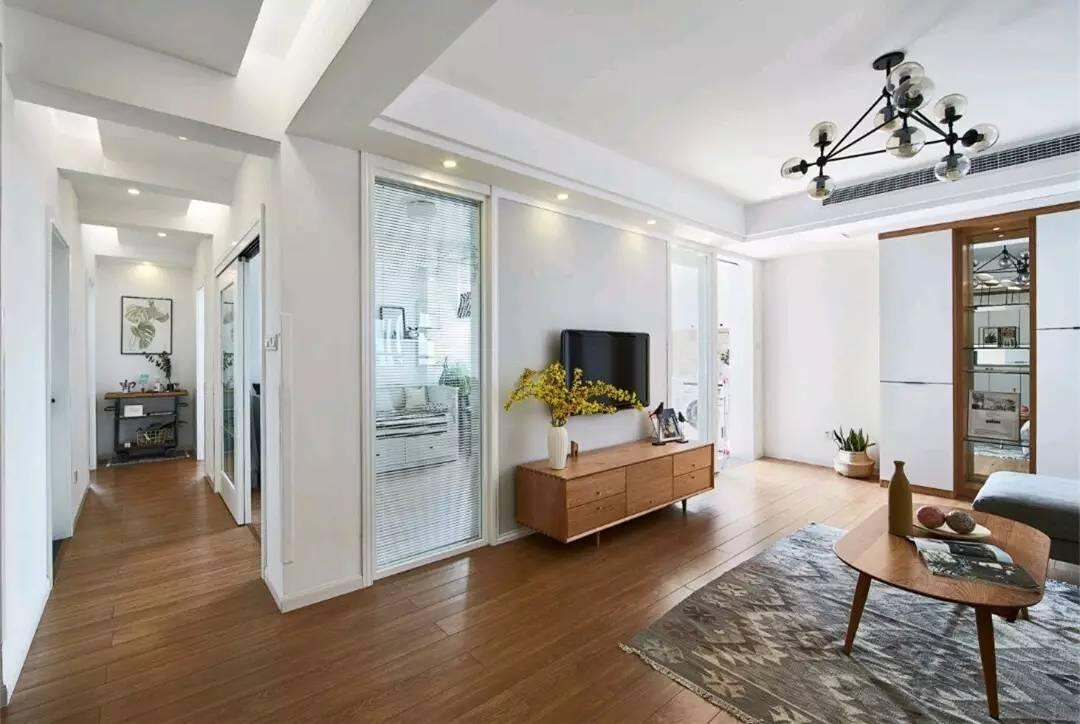 美炸了的116㎡北欧三居室,就喜欢这样简单的设计,装修费用25万都没到