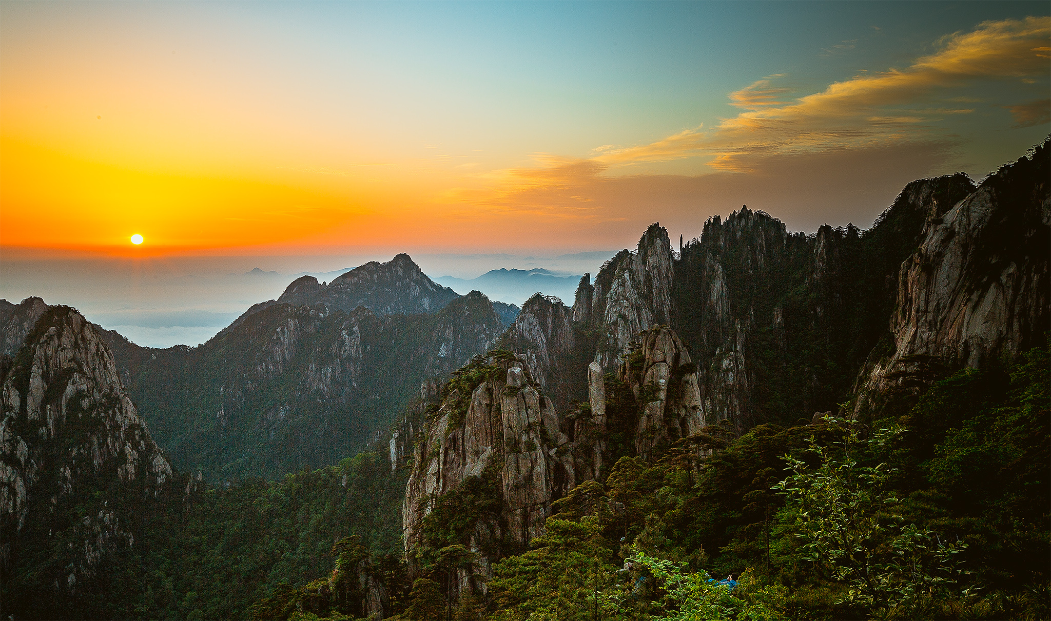 中国40个最美景点之黄山,一生必去一次的地方