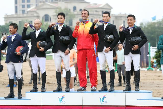 全运会马术场地障碍赛团体赛落幕__广东队喜获冠军