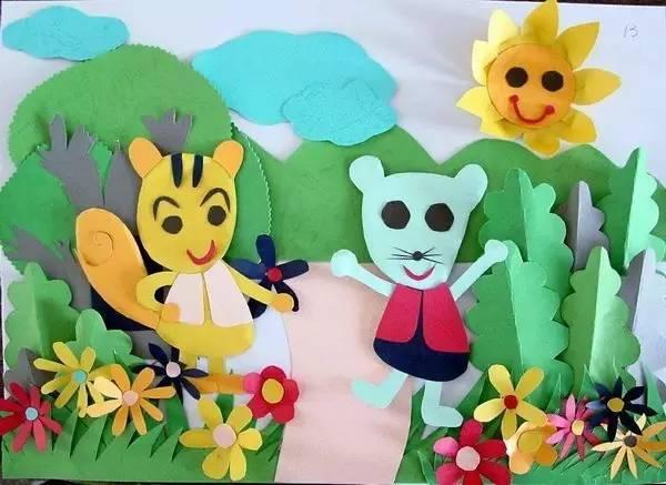 100张幼儿园创意墙面手工粘贴画,让教室美如画