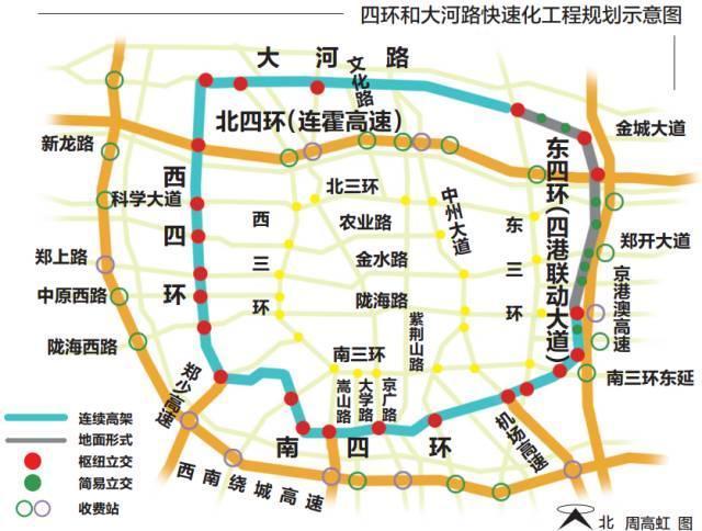大四环时代来啦!郑州南,西,北年内开建连续高架!图片