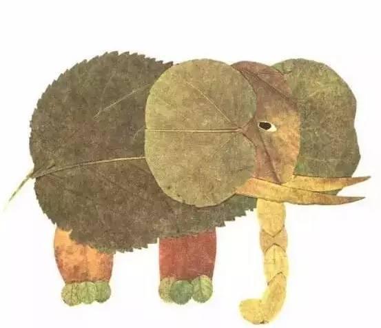 【手工】100种幼儿园开学创意手工 树叶粘贴画!