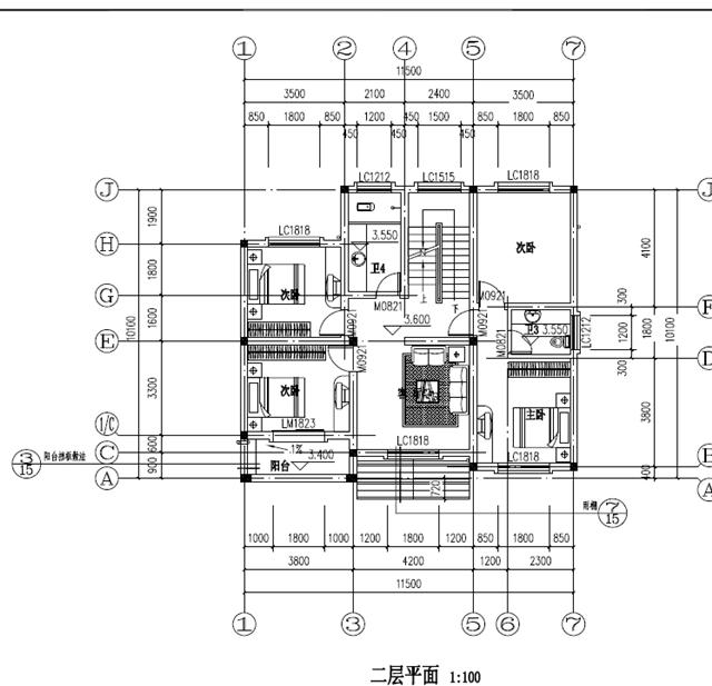 新农村三层房屋设计cad施工图纸, 经典实用, 你值得拥有!图片