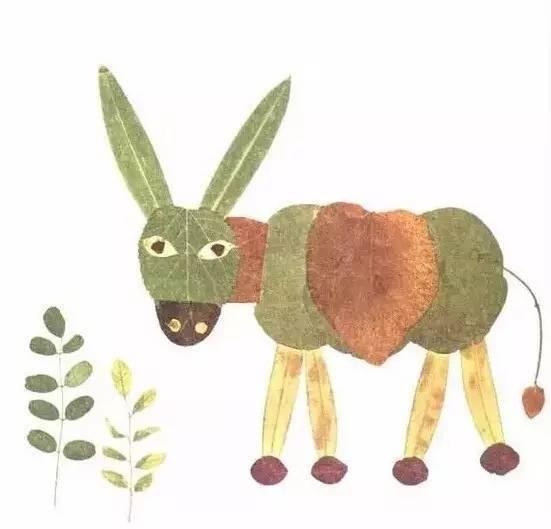 100种幼儿园开学创意手工 树叶粘贴画