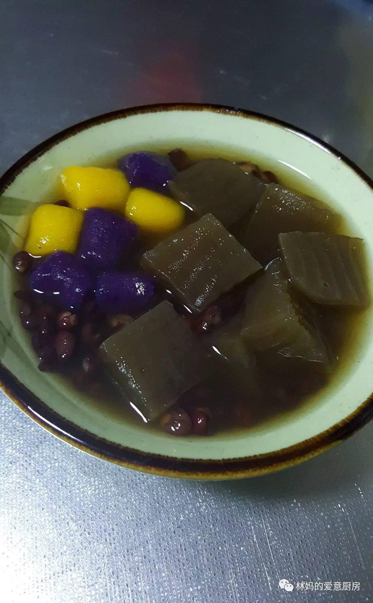 黑糖粉粿红豆芋圆
