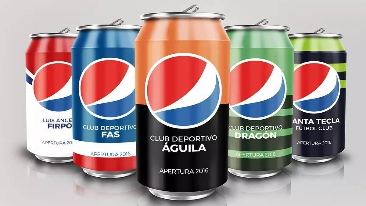 百事可乐联赛(liga pepsi)12罐特别版包装设计图片