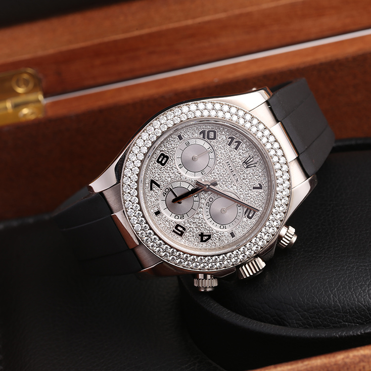 18K铂金材质,原装钻石-----ROLEX迪通拿116589满天星腕表【高价回收置换】