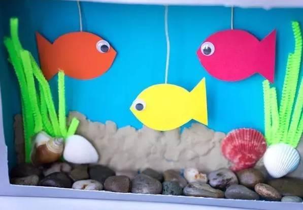 幼儿园创意手工,海洋瓶子,水族馆及4款水母手工吊饰