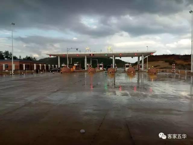 最新消息!兴华高速五华出口,横陂服务区,通车在即!